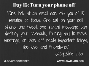 Day 15_ Turn your phone off