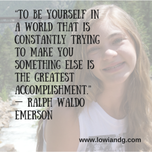 """""""To be yourself in a world that is"""