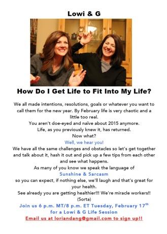 Feb 17th Life Lesson Live