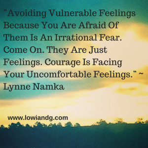 """""""Avoiding Vulnerable Feelings Because"""