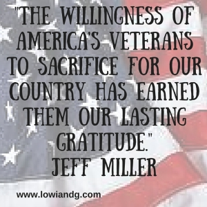 %22The willingness of America's veterans to sacrifice for our country has earned them our lasting gratitude.%22Jeff Miller