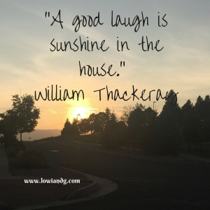 %22A good laugh is sunshine in the house.%22 William Thackeray