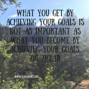 What you get by achieving your goals is not as important as what you become by achieving your goals. Zig Ziglar